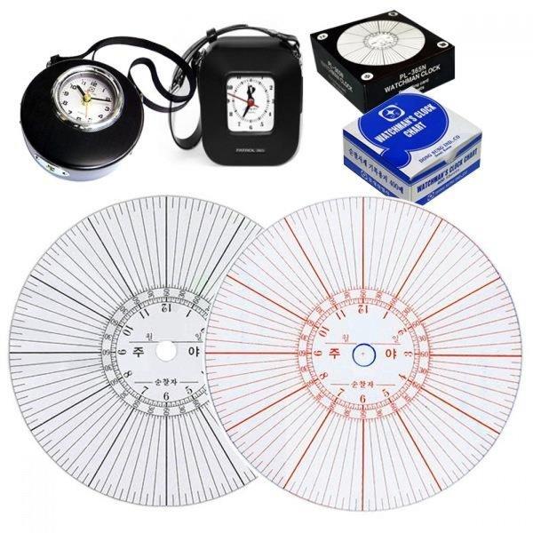 순찰시계용 순찰기계용지 리필 4종모음 상품이미지