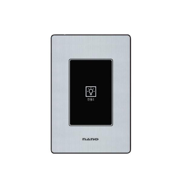 나노전기 아트2 리모콘 터치 스위치 1구 블랙 상품이미지