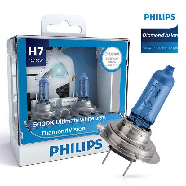 필립스 다이아몬드비전 5000K H7 12V 55W 1SET 상품이미지