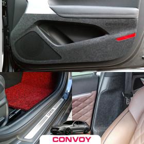(엄지카) 제네시스G70 카본 도어커버/문커버 스크래치