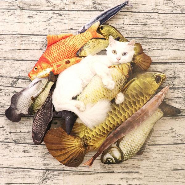 고양이 캣닢 쿠션 인형 장난감 생선 물고기 쿠션 인형 상품이미지