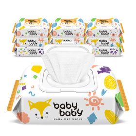 babybabywetwipe/wetwipe/babybabywettissue/wettissue/wetpaper/nature/62gsm/72sheets/embossing/10pack