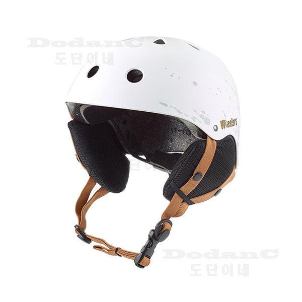 WH-90 스키 스노우보드 헬멧 화이트 사이즈조절 귀마개 상품이미지