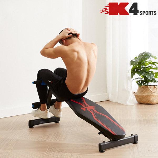 K4스포츠아몸디 싯업벤치복근운동 싯업보드(K314) 블랙 상품이미지