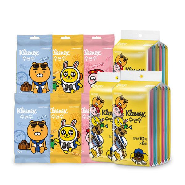 카카오 수앤수 물티슈 휴대용 10매 24개 상품이미지