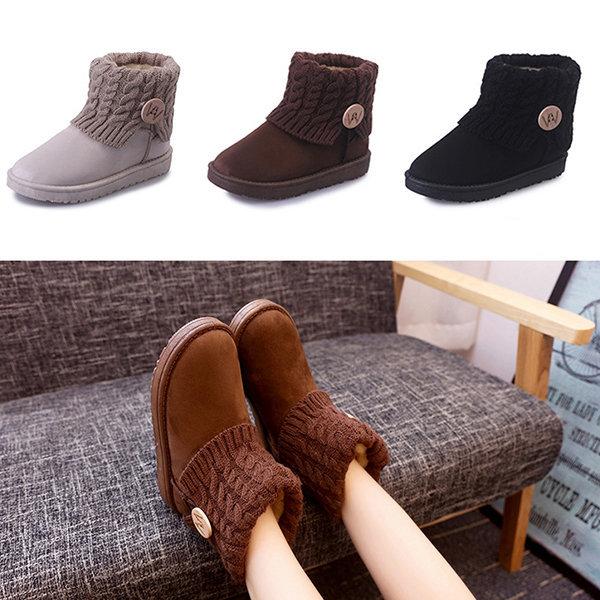 귀여운 니트부츠 / 여성 여자 겨울 털 방한 신발 퍼 상품이미지