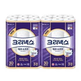 데코 앤 소프트 화장지 27M30롤X2팩/휴지 /증정