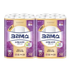 수프림소프트 화장지30M30롤x2팩/휴지 /+증정