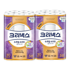 수프림소프트 화장지30M30롤x2팩/휴지 +증정