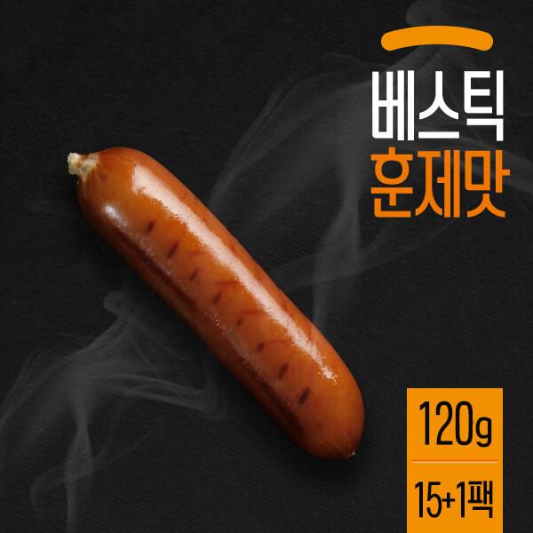 (현대Hmall)베스틱 닭가슴살 소시지 훈제맛 120g(15+1팩) 상품이미지