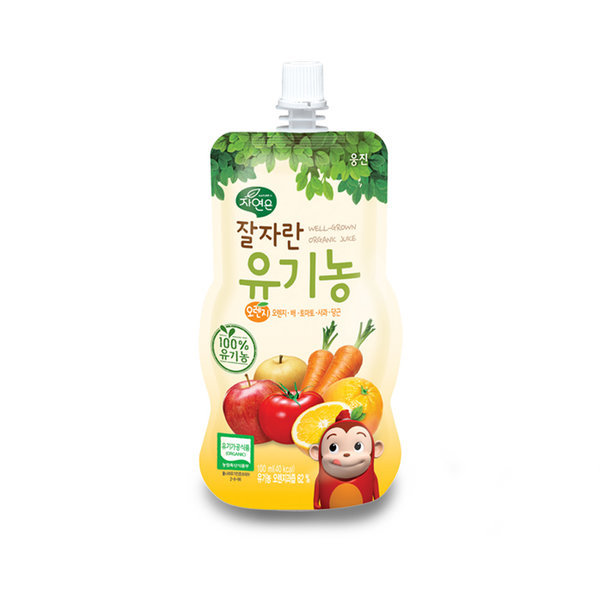 자연은 잘자란 유기농 오렌지주스(100mlx10팩)/어린이 상품이미지