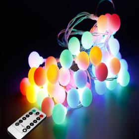 LED 앵두전구 벽트리 크리스마스전구 줄조명 50구4컬러