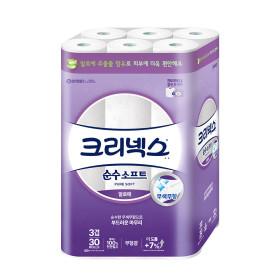 순수3겹소프트 화장지 27M 30롤/휴지 /NEW