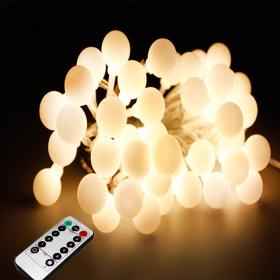 LED 앵두전구 벽트리 크리스마스전구줄조명 50구화이트