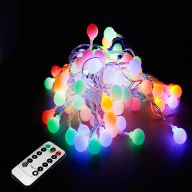 LED앵두전구 벽트리 크리스마스전구 줄조명 50구 4컬러