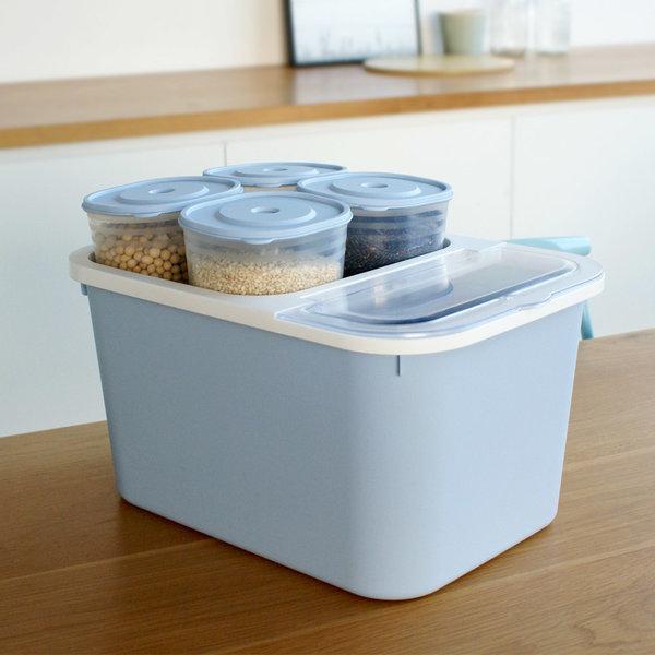 플러스 쌀통/잡곡통 4개포함/쌀독/쌀보관/다용도통 상품이미지