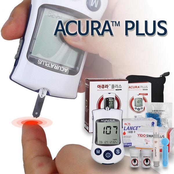 아큐라플러스 혈당측정기세트 시험지 110T+침210+솜100 상품이미지