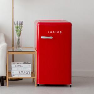 [쿠잉]유럽형 스타일리쉬 냉장고 쿠잉/REF-90CNR/소형/미니