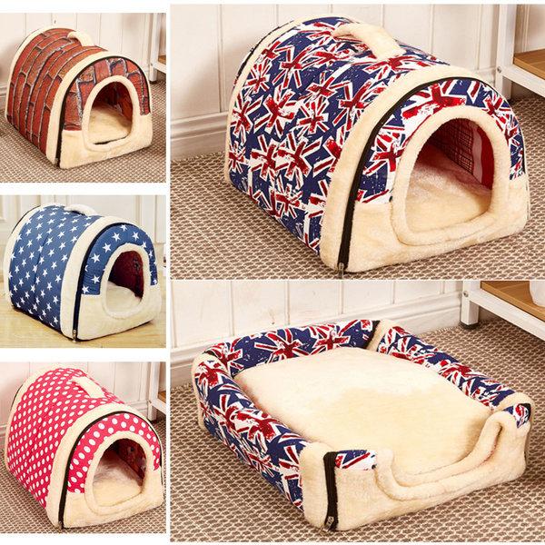 애견하우스 동굴 극세사 강아지 고양이 수면 개집 상품이미지