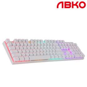 K640 LED 게이밍 기계식 키보드 청축화이트+키캡행사