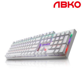 K640 LED 게이밍 기계식 키보드 청축화이트+스마일배송