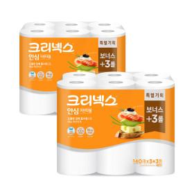 안심클래식키친타올 140매6롤x2팩/휴지/행주