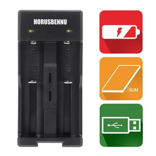호루스벤누 EX2M 18650 2구 배터리 충전기 LED/포터블 상품이미지