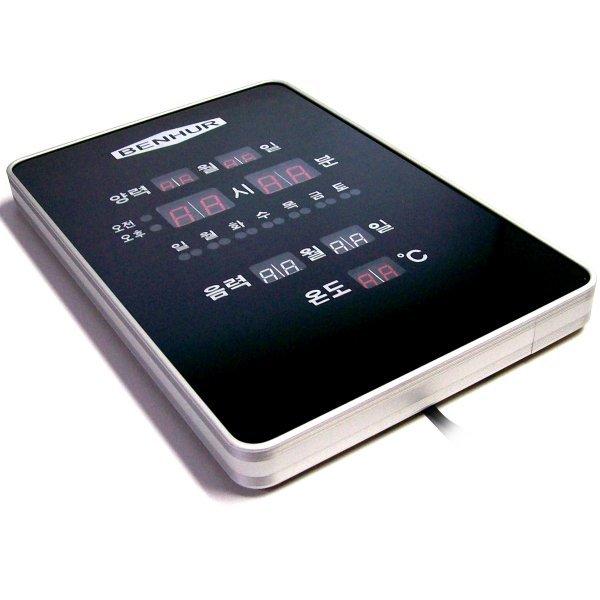 세로형 디지탈 LED 시계 191-벽시계 전기 전자 시게 상품이미지
