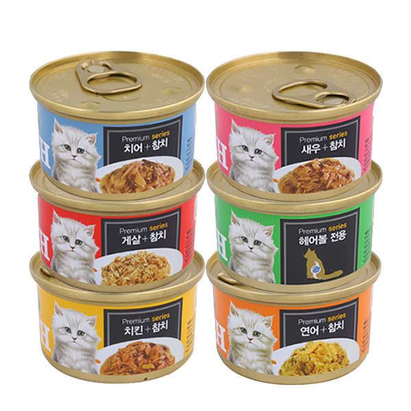 (현대Hmall)프리미엄 골드 GOLD 런치캔 6종 모음 고양이캔 상품이미지