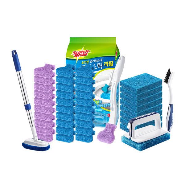 크린스틱 변기청소 핸들+리필 욕실청소 청소용품 상품이미지