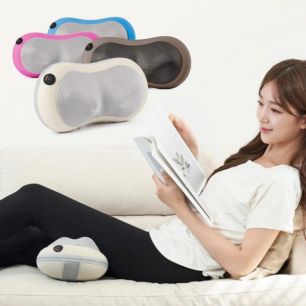슬리머 목안마기 목마사지기 어깨 발 다리 쿠션 핑크 상품이미지