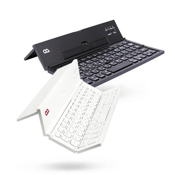 4단접이식 휴대용무선 블루투스키보드 블랙 K0001 상품이미지