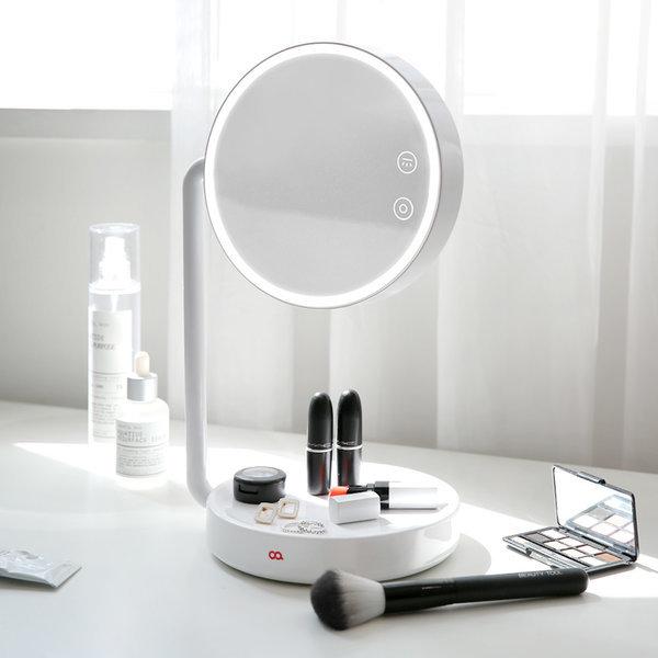블링 LED 무선 탁상 조명 거울 화장대 스탠드 화이트 상품이미지