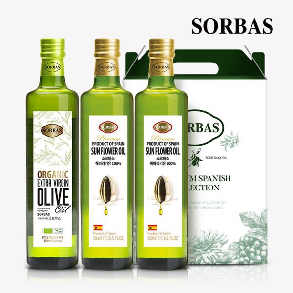 (현대Hmall)소르바스 올리브유1병 해바라기유2병 세트 상품이미지