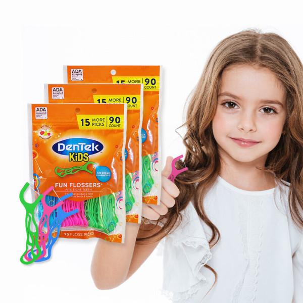 덴텍 유아치실 3팩(225개입)/아동치실/어린이치실 상품이미지