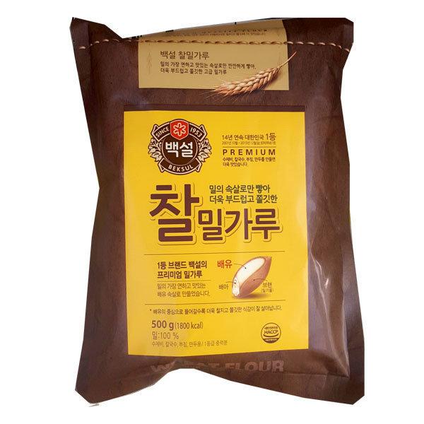 찰밀가루 500g/밀가루/찰밀가루 상품이미지