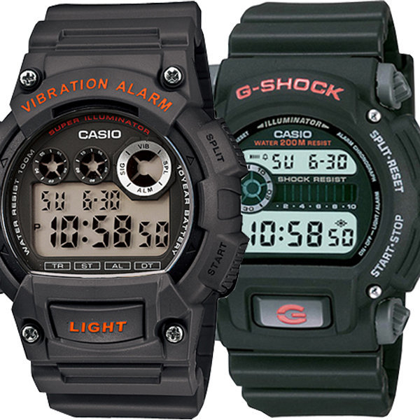 정품 군인군용 전자손목시계 진동알람 남자여자 방수 상품이미지