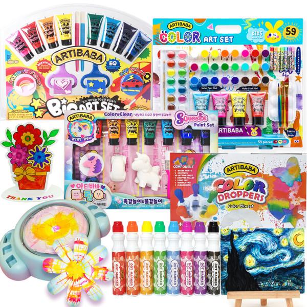 유아 물감 롤러 미술 놀이 명화 도트 색칠 어린이선물 상품이미지