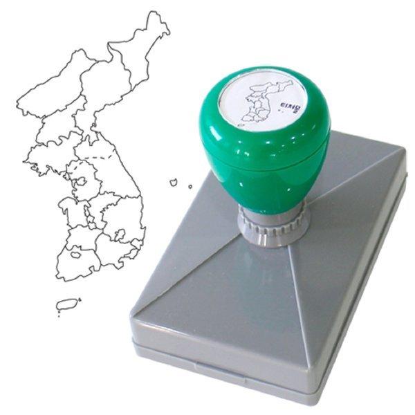 한국지도 스탬프 만년 STAMP 국사 지리 도장 그리기 상품이미지