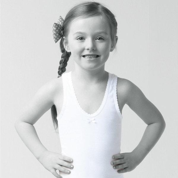 흰색 아동 여아 런닝 / 순면 주니어 유아 나시 속옷 상품이미지