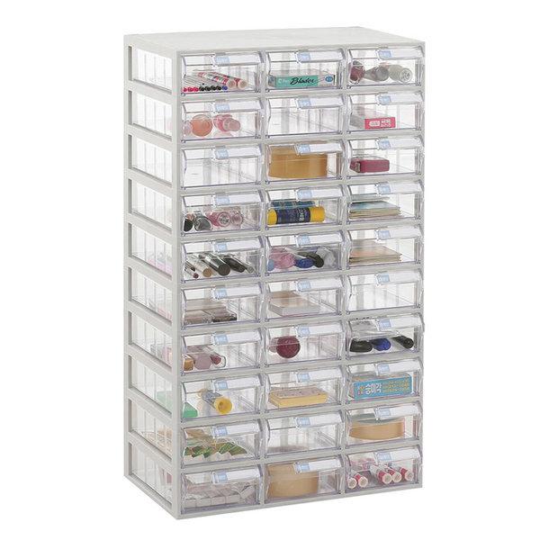 투명수납함 30칸(중형)다용도플라스틱서랍장 책상정리 상품이미지