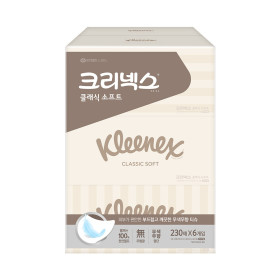 클래식 미용티슈 230매6개/각티슈/휴지