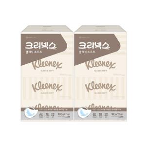 피톤치드 클래식미용티슈 180매8개x2팩/각티슈/휴지