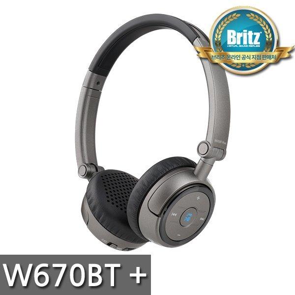 브리츠 공식대리점   W670BT PLUS   블루투스 유무선 헤드폰/ 통화+음악감상겸용/ 헤드밴드형/ 이어... 상품이미지