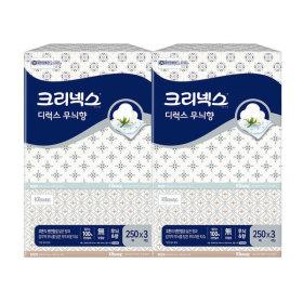 디럭스 무늬향 미용티슈 250매3개x2세트/휴지