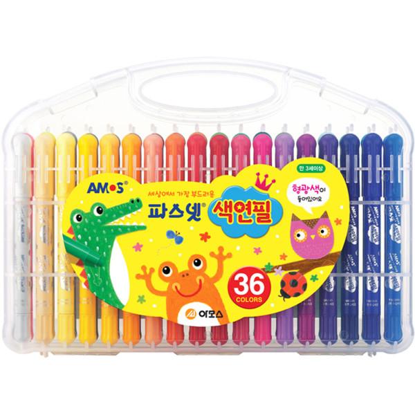아모스 파스넷 색연필 36색 색칠 미술놀이 상품이미지