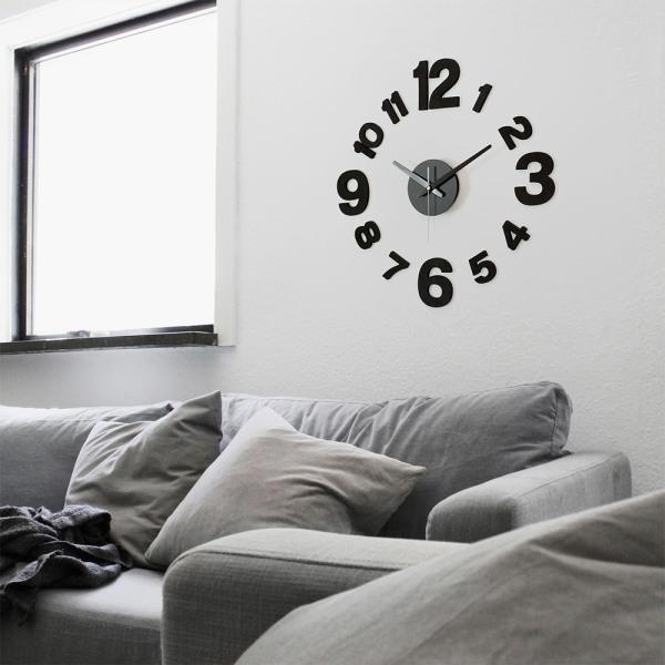 인테리어벽시계 DIY 무소음벽시계 모던블랙 상품이미지