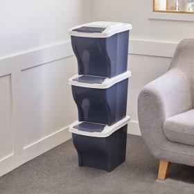 가정용 분리수거함 쓰레기통 3단 / 40L 봉투사용