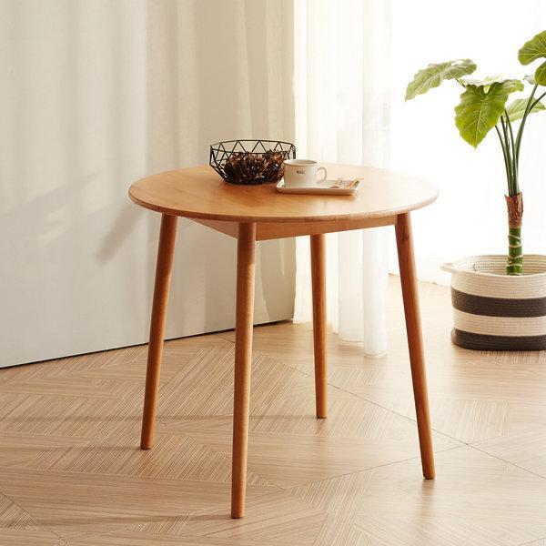 80cm 원형테이블 너도밤나무 원목 테이블 상품이미지