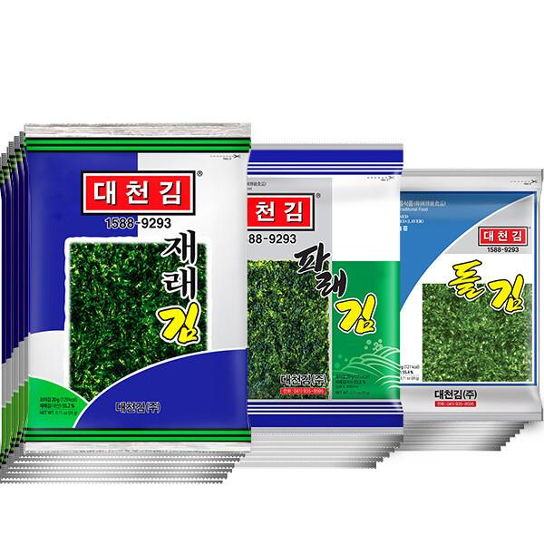 대천김  재래김/파래김/돌김 20봉(10봉 x 2세트) 상품이미지